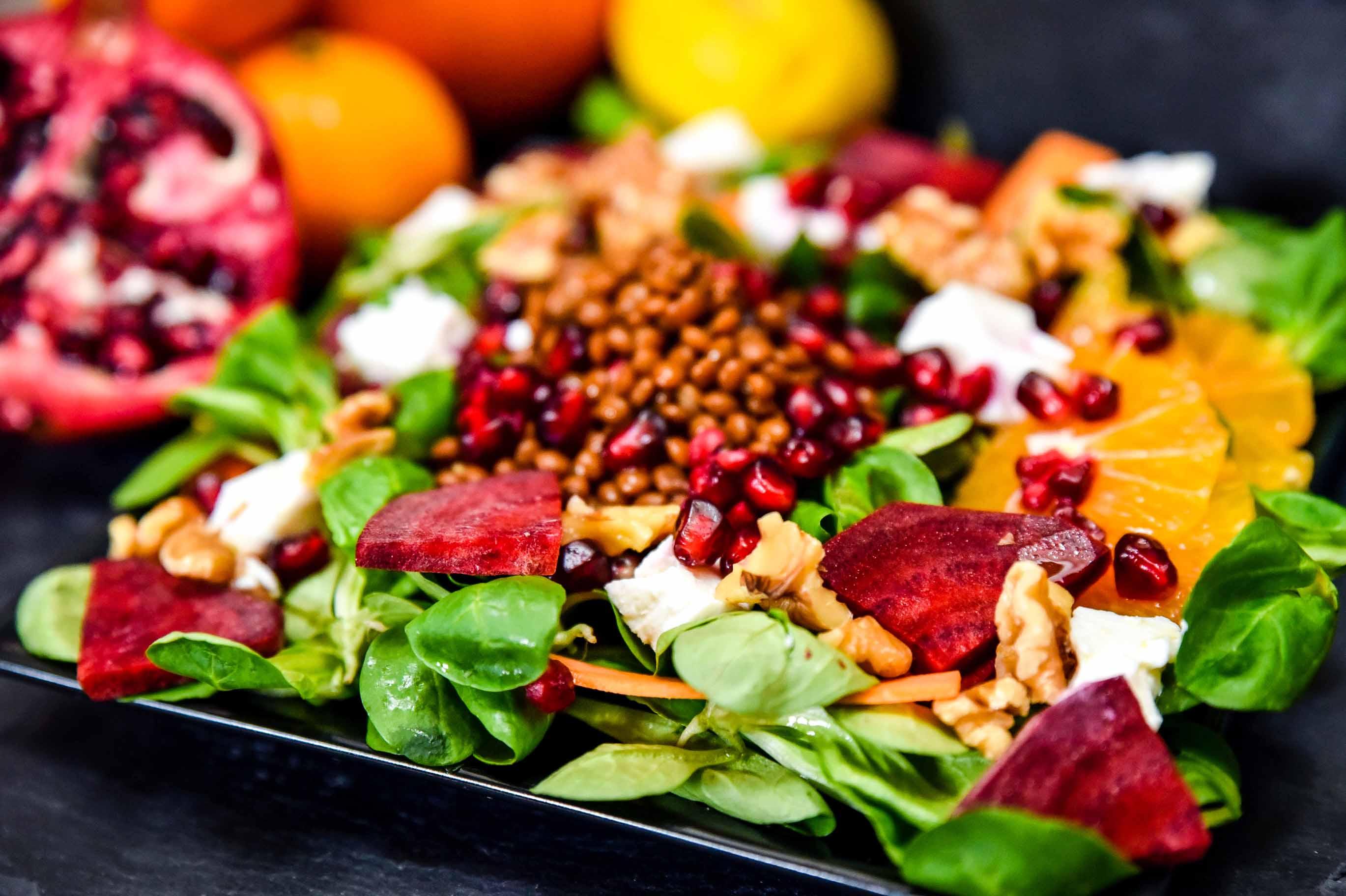Čočkový salát s citrusy