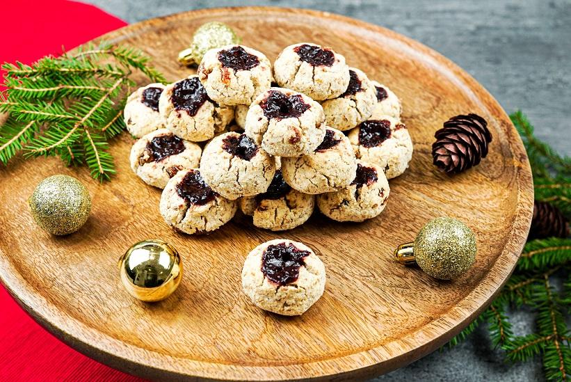 Vánoční koláčky s marmeládou